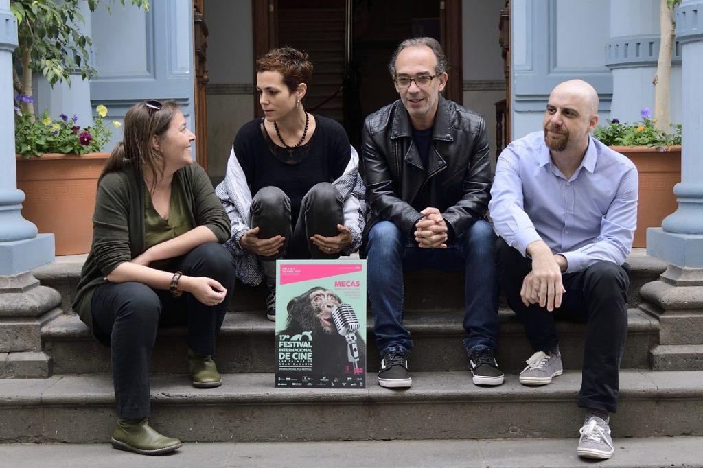 Nuria Guinnot, coordinadora de Gran Canaria Film Commission, Lorena Morín, coordinadora de MECAS, Luis Miranda, director del Festival y Pedro Carballido, coordinador de CLAC, Cluster Audiovisual de Canarias